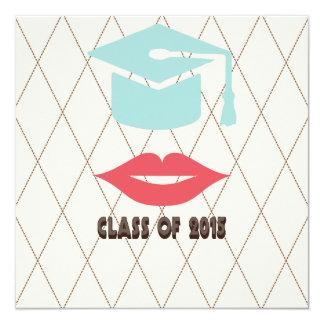 Hipster Girl 2015 Graduation Invitation
