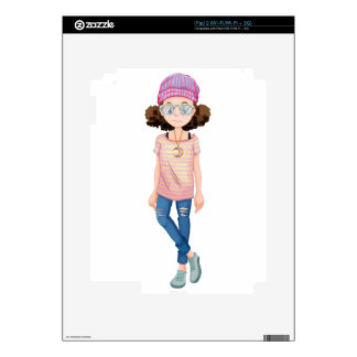 Hipster girl decals for iPad 2