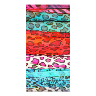 Hipster girly  abstract animal print pattern card