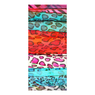 Hipster girly  abstract animal print pattern rack cards