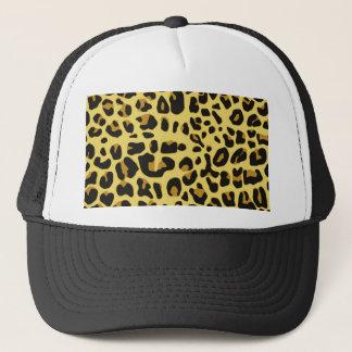 Hipster Girly Black Yellow Animal Print Pattern Trucker Hat