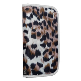 Hipster Girly Brown White Leopard Animal Print Planner