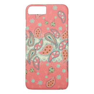 Hipster Girly Paisley Pattern iPhone 7 Plus Case