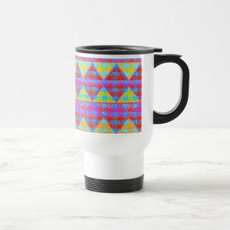 Hipster Girly Pink Abstract Tribal Andes Pattern Travel Mug
