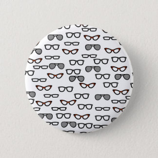 Hipster glasses button
