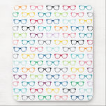 "Hipster Glasses Colorful Pattern Mouse Pad<br><div class=""desc"">A cool hipster mousepad with a colorful glasses pattern in yellow,  red,  gray,  blue,  teal and black. These cheerful eyeglasses will add a whimsical touch to your work space.</div>"