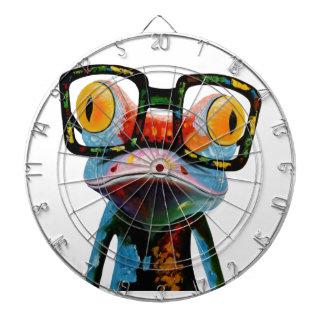 Hipster Glasses Frog Dart Board