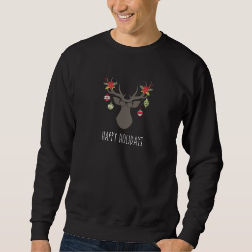 Hipster Glasses Happy Holiday Christmas Sweater