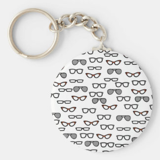 Hipster glasses keychain