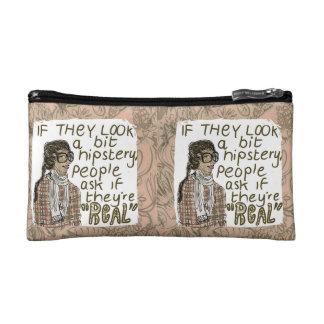 Hipster Glasses Makeup Bag