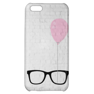 Hipster Glasses Pink Balloon iPhone Case iPhone 5C Cases