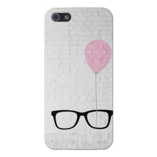 Hipster Glasses Pink Balloon iPhone Case Case For iPhone 5