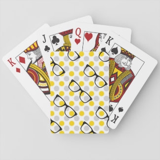 Hipster Glasses Playing Cards
