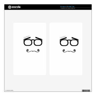 Hipster Glasses Decal For Kindle Fire