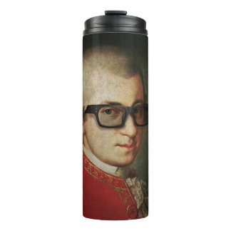 Hipster Glasses Wolfgang Amadeus Mozart Thermal Tumbler