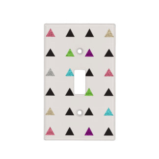 Hipster Glitter Triangles Light Switch Cover