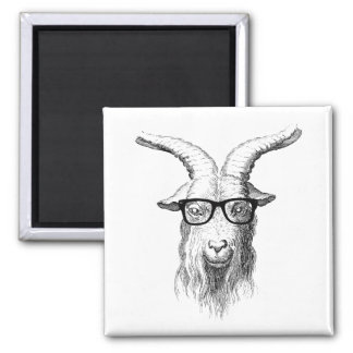 Hipster Goat 2 Inch Square Magnet