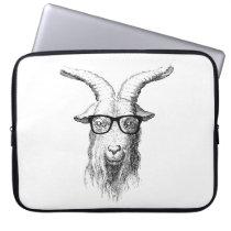 Hipster Goat Laptop Sleeve