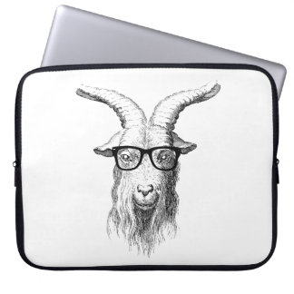 Hipster Goat Laptop Sleeve