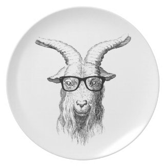Hipster Goat Plate