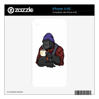 Hipster Gorilla Decal For The iPhone 4