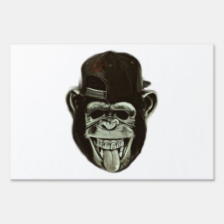 Hipster Gorilla Lawn Sign
