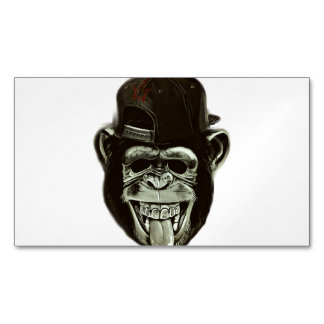 Hipster Gorilla Magnetic Business Card