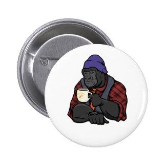 Hipster Gorilla Pinback Button