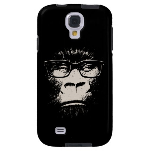 Hipster Gorilla With Glasses Galaxy S4 Case