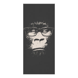 Hipster Gorilla With Glasses Rack Card