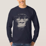 Hipster Gorilla With Glasses Tee Shirt