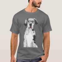 Hipster Great Dane for Dog Lovers T-Shirt