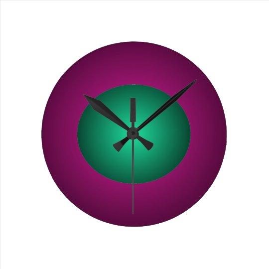 Hipster Green Purple 3D Design Ball Clock