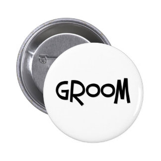 Hipster Groom Button