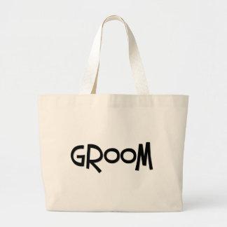 Hipster Groom Large Tote Bag