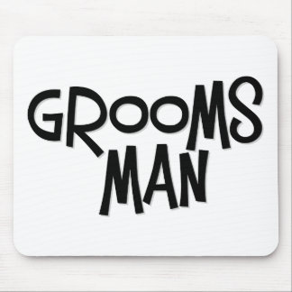Hipster Groomsman Mouse Pad