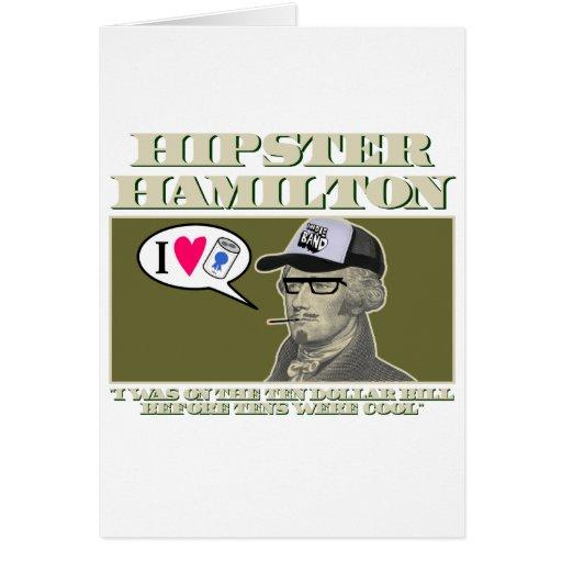 Hipster Hamilton Greeting Card