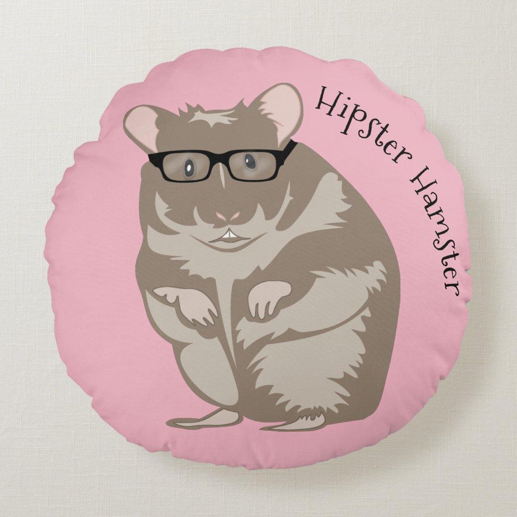 Hipster Hamster Pillow