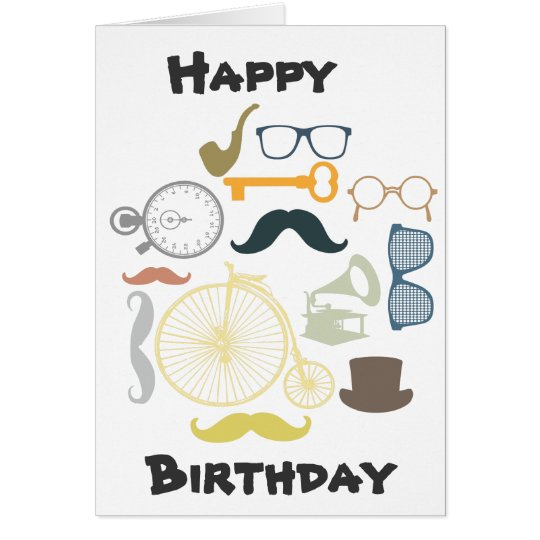 Hipster Happy Birthday Card – Hipster Birthday Cards