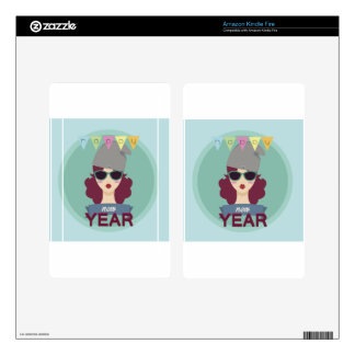 hipster happy new year skin for kindle fire