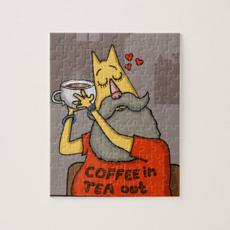 Hipster Hazelnut latte Jigsaw Puzzle