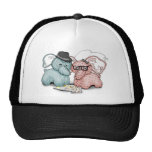 Hipster Hellephant Couple Hat