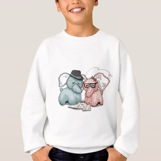 Hipster Hellephant Couple Sweatshirt