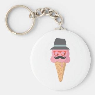 Hipster ice cream keychain