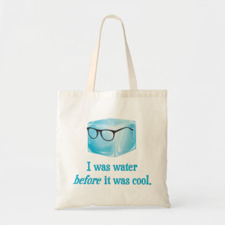 Hipster Ice Cube Was Water Before It Was Cool Canvas Bags