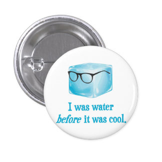 Hipster Ice Cube Was Water Before It Was Cool Button
