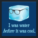 "Hipster Ice Cube Was Water Before It Was Cool Photo Print<br><div class=""desc""></div>"