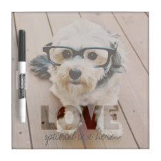 Hipster Instagram Photo Art - Love Color Overlay Dry-erase Board at Zazzle
