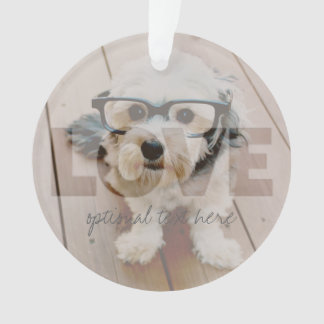 Hipster Instagram Photo Art - Love Color Overlay Ornament