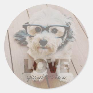 Hipster Instagram Photo Art - Love Color Overlay Sticker